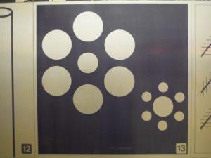 丸の錯視図