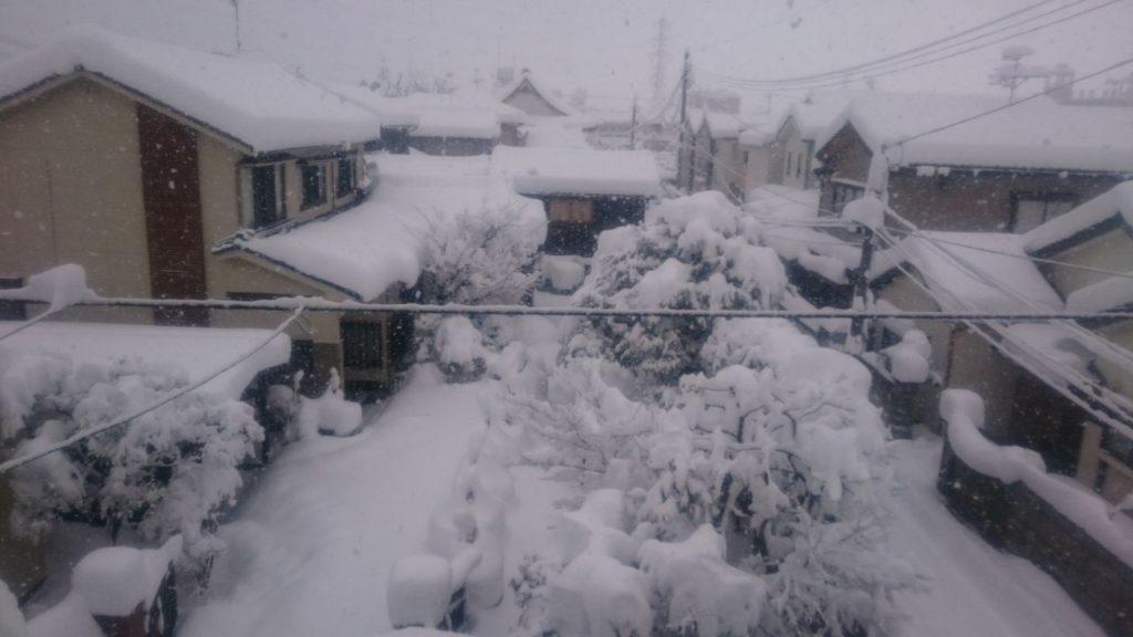 2018年の新潟市内の大雪の様子