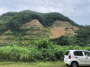 調査中の採石場(新潟県糸魚川)